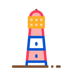 lighthouse icon outline vector image