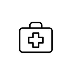 line first aid icon on white background vector image
