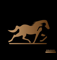 look like a horse logo vector image
