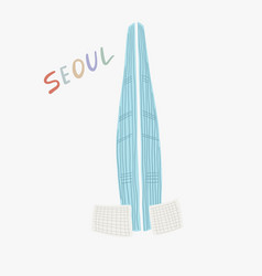Lotte world tower - famous vector