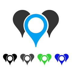 Map markers flat icon vector
