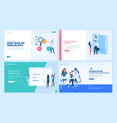 medicine and healthcare web page design templates vector image