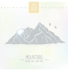 Mountain silhouette vector