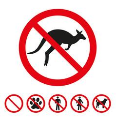 No kangaroo sign on white background vector