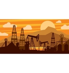 Oil platform concept vector image