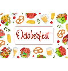 oktoberfest banner template beer festival vector image