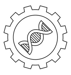 outline biotechnology industry icon on white vector image