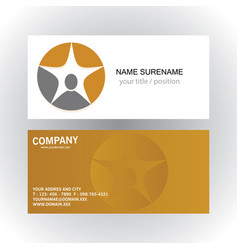 People star succes logobusiness card vector