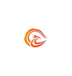 phoenix bird wing logo vector image
