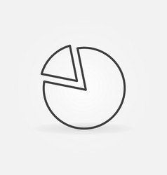 pie chart thin line concept minimal icon vector image