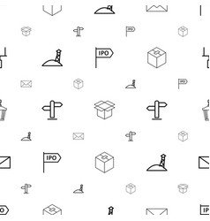 Post icons pattern seamless white background vector