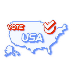 Presidential vote in usa 2020 state map with vector