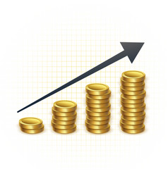 Rising prices for gold concept chart vector