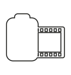 Roll camera photographic isolated icon vector