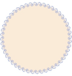 Round with frame vector image