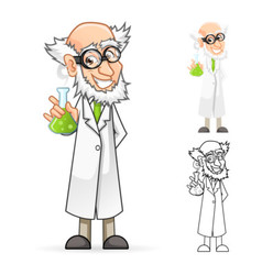 Scientist Holding a Beaker Feeling Great vector image