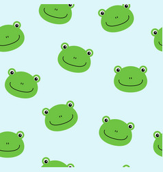 seamless pattern with cute frogs background for vector image