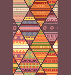 Seamless tribal pattern with native patterns vector