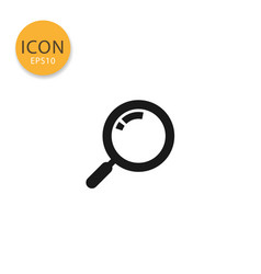 search icon isolated flat style vector image