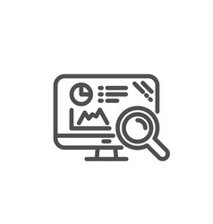 Seo statistics line icon search engine sign vector