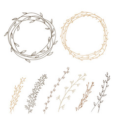 Set of decorative vector