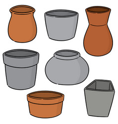 set of pots vector image