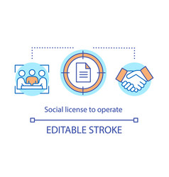 Social licence to operate concept icon vector