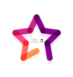 star abstract geometric shape concept vector image