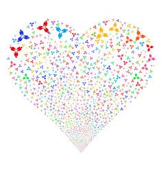 stomatology fireworks heart vector image