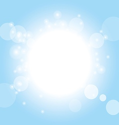 summer background - sky and sunshine vector image
