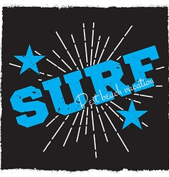 Surfing background vector