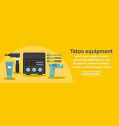 tattoo equipment banner horizontal concept vector image
