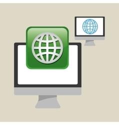 Technology design social media icon computer vector