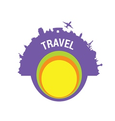 travel color silhouette vector image