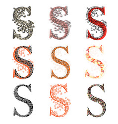 064be63b71bde Various combination fishnet letter s vector ...