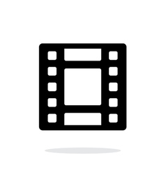 Video icon on white background vector image