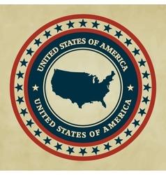 Vintage label USA vector