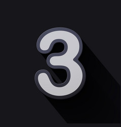 Volume icons number three vector
