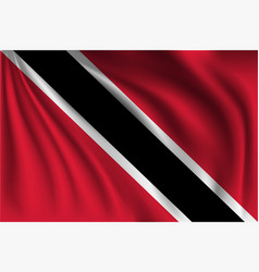 Waving trinidad and tobago vector