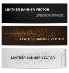 Web Banners with Leather Texture Different Colored vector image