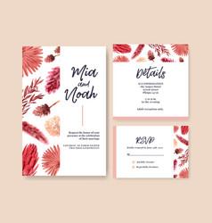 Wedding card with autumn flower concept design vector