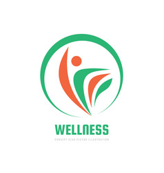 Wellness - concept logo template vector