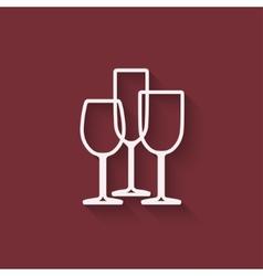 wine menu design element vector image