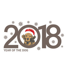Year of the dog 2018 template new years design on vector