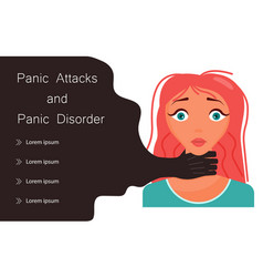Young woman has a panic attack concept vector