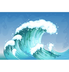 A very big wave vector image vector image