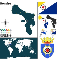 Bonaire map vector image