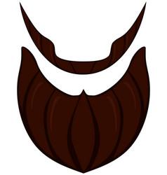 cartoon icon poster beard beaver bearded man vector image vector image