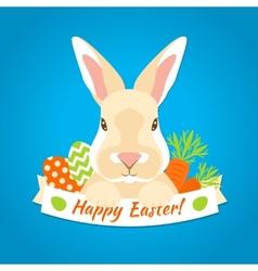 Rabbit Easter Label vector image