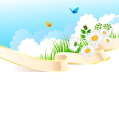summer ribbon vector image vector image